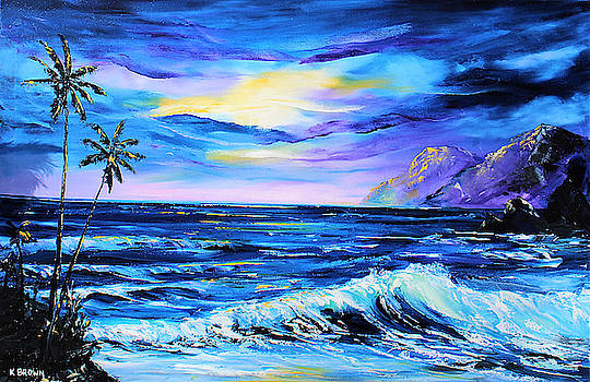 Purple Seascape by Kevin Brown