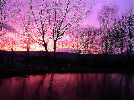 Jonny Jelinek - Purple Winter Sunset Over The Lake