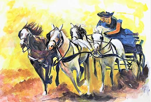 Quadriga Chariot by Khalid Saeed