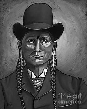 David Hinds - Quanah Parker - Black and White