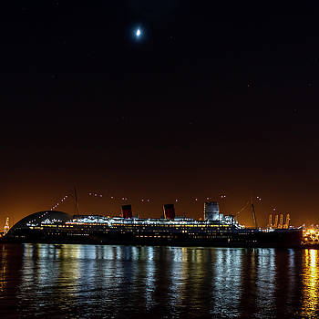 Queen Mary And The Moon - Square by Gene Parks