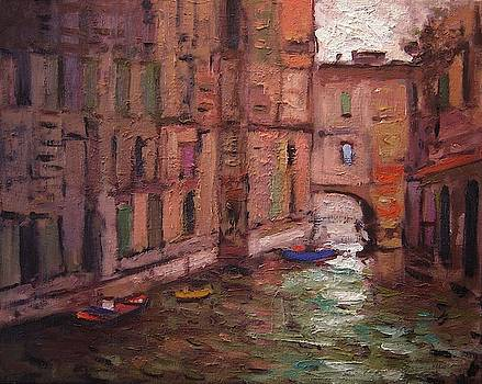 Quiet canal in Venice Italy 5 by R W Goetting