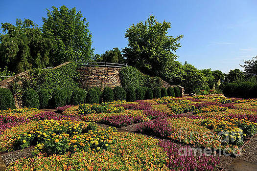 Quilt Garden in Asheville North Carolina by Jill Lang