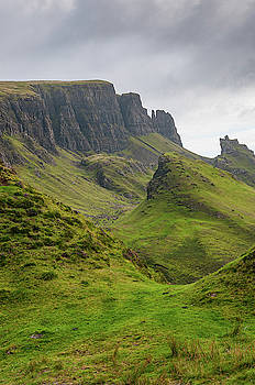 Quiraing mountain summit in the Isle of Skye by Michalakis Ppalis