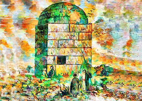 Rachel Tomb in Colors by Munir Alawi