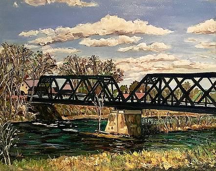 Railroad Bridge-Autumn View by Richard Nowak
