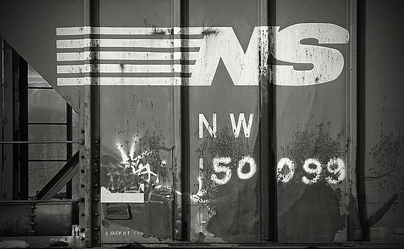 Railroad Car NW 50099 B W 1 by Joseph C Hinson