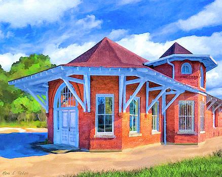 Mark E Tisdale - Railroad Depot In Marshallville Georgia - Vintage Americana