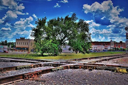 Railroad tracks crossing  by Savannah Gibbs