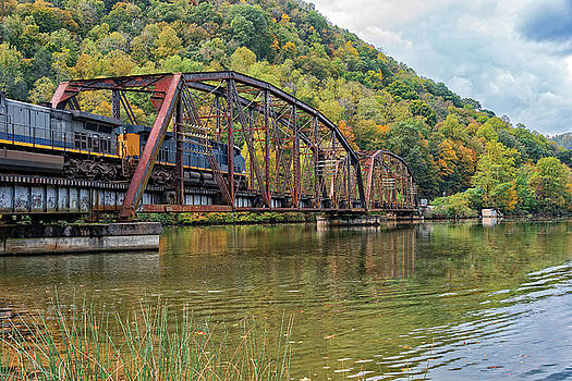 Railroad Trestle At Hawks Nest State Park In West Virginia by Jim Vallee
