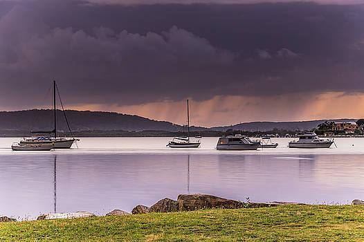 Rain Across the Bay by Merrillie Redden