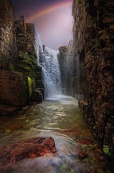 Triple Falls / Glacier National Park  by Nicholas Parker