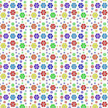 Rainbow Heart Flowers by Lisa Blake