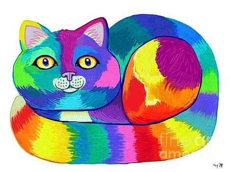 Rainbow Spectrum Cat by Nick Gustafson
