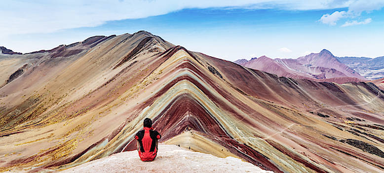 Rainbow mountains in Peru by Kamran Ali