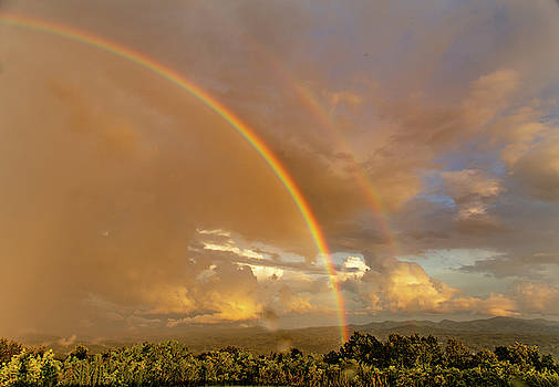 Rainbow over Buck Bald by Jim Allsopp