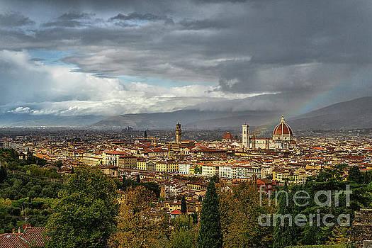 Wayne Moran - Rainbow Over El Duomo Florence Italy