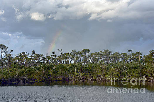Rainbow Over the Blue Hole by Catherine Sherman