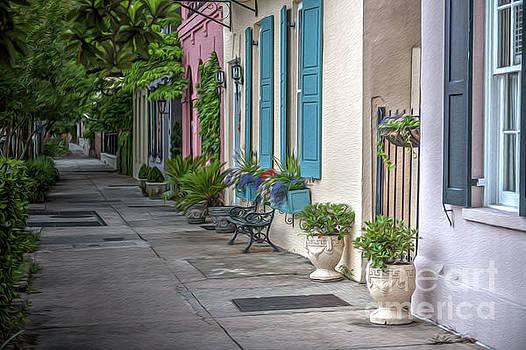 Dale Powell - Rainbow Row Evening Stroll in Historic Charleston South Carolina
