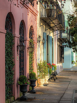 Rainbow Row Morning Light 2 by Donnie Whitaker