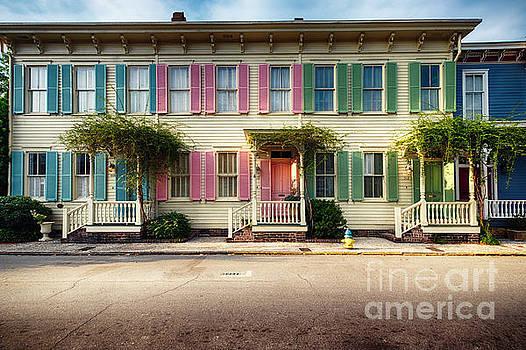 Rainbow Row of Savannah by George Oze