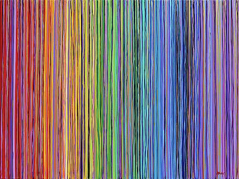 Rainbow Stripes Purple Gold 2 no 201914 by Alyse Radenovic