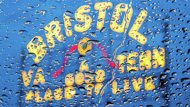 Raindrops at the Bristol Sign by Greg Booher