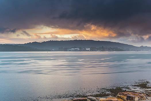 Raining on the Bay by Merrillie Redden