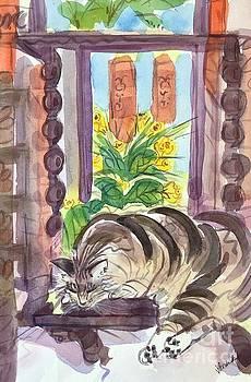 Ranch Cat by Virginia Vovchuk
