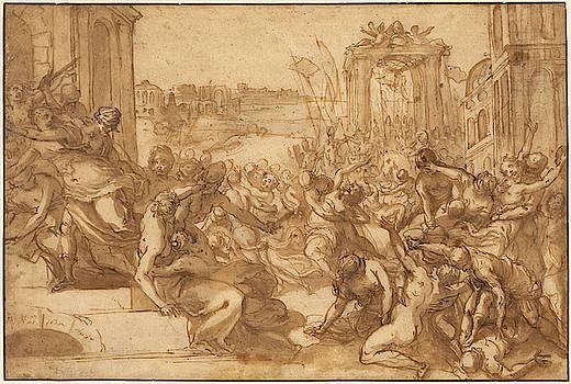 Hans Rottenhammer - Rape of the Sabines
