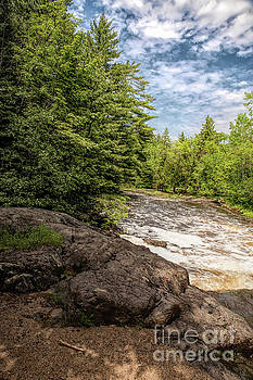 Rapids of The Amnicon River in Wisconsin by Nikki Vig