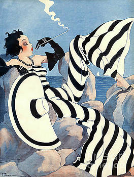 Tina Lavoie - Rare French Art Deco Woman Haute Couture Fashion