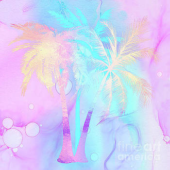 Tina Lavoie - Rarefied Air II palm trees Tropical Atmospheric Art