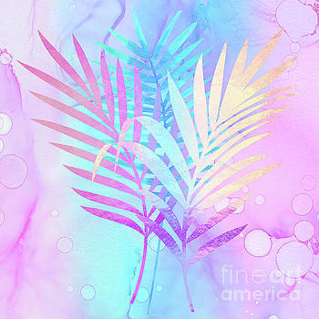 Tina Lavoie - Rarefied Air vibrant palm fronds Atmospheric Art