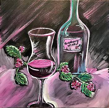 Raspberry Wine by Roseann Amaranto