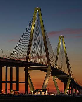 Ravenel Bridge Twilight  by Donnie Whitaker