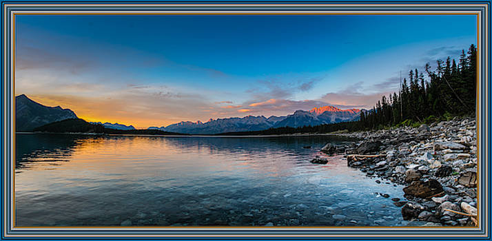 Rawson Lake Mountain Sunset Colorful Frame by Tin Tran