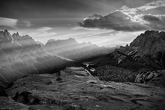 Rays over the Dolomites II by Jon Glaser