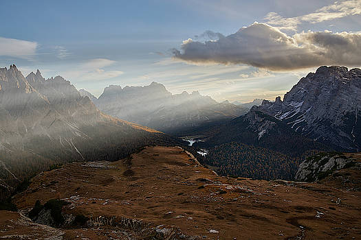 Rays over the Dolomites by Jon Glaser