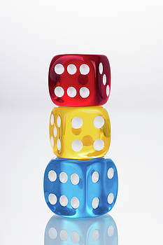 Rby Colored Dices Stacking by Miragec