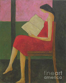 Reading On The Porch by Glenn Quist
