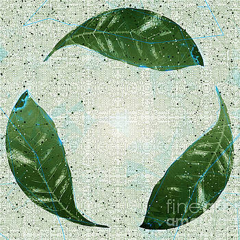 Recycle logo created from leafs j1 by Humorous Quotes