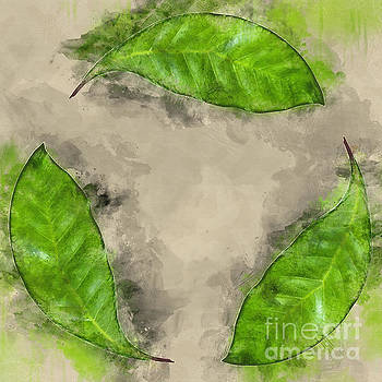 Recycle logo created from leafs j10 by Humorous Quotes