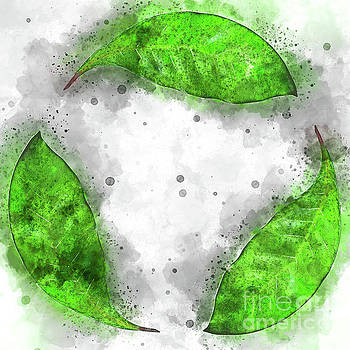 Recycle logo created from leafs j2 by Humorous Quotes