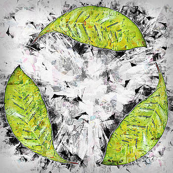 Recycle logo created from leafs j3 by Humorous Quotes