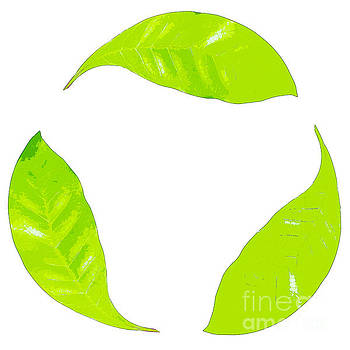 Recycle logo created from leafs J7 by Humorous Quotes
