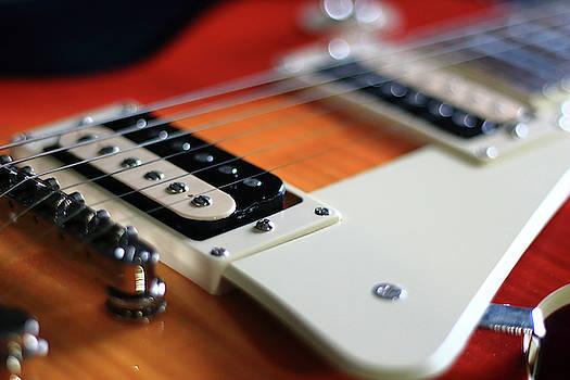 Angela Murdock - Red and Orange Guitar Body