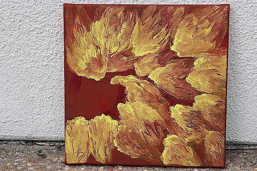 Red and Yellow-Nature Painting by Ambika Thiagarajan