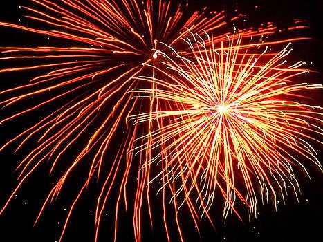 Red Balls of Fireworks by Susan Janus