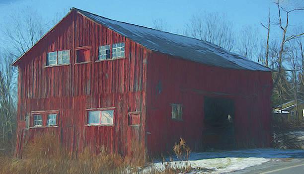 Red Barn as art by Alan Goldberg
